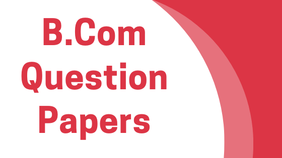 DAVV B.Com Previous Year Question Papers