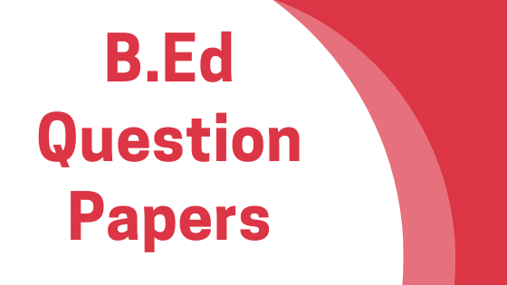 DAVV B.Ed Previous Year Question Papers