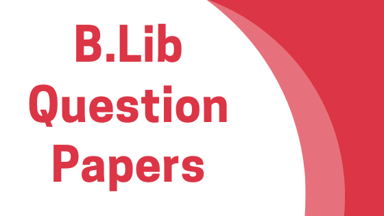 DAVV B.Lib Previous Year Question Papers
