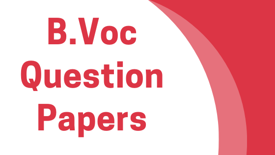 DAVV B.Voc Previous Year Question Papers