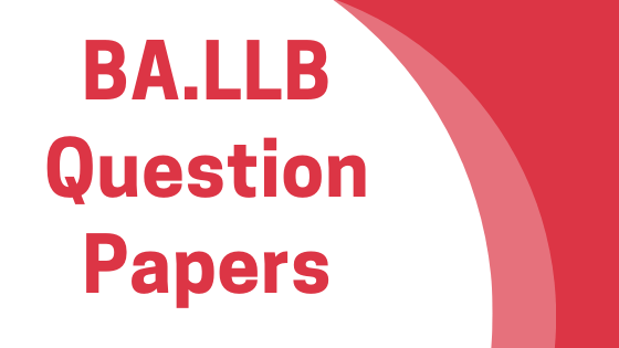 DAVV BA-LLB Previous Year Question Papers