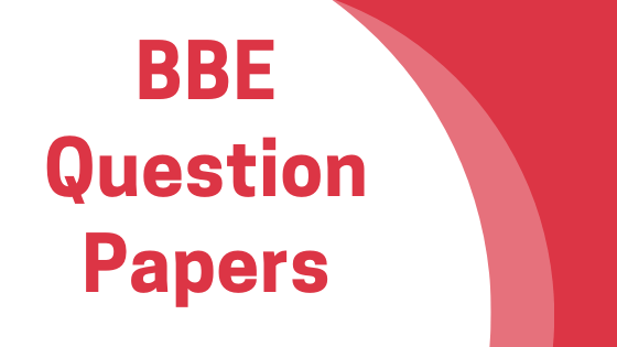 DAVV BBE Previous Year Question Papers