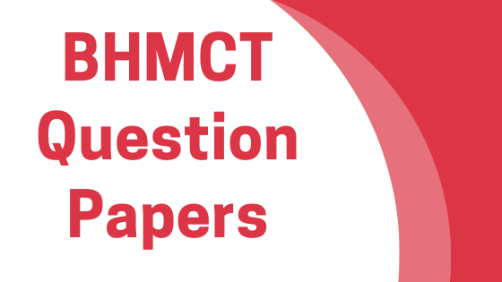 DAVV BHMCT Previous Year Question Papers