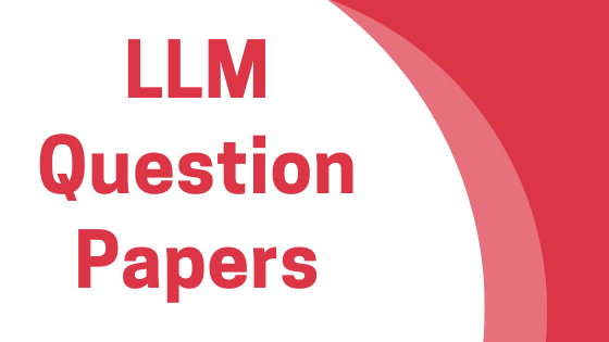 DAVV LLM Previous Year Question Papers