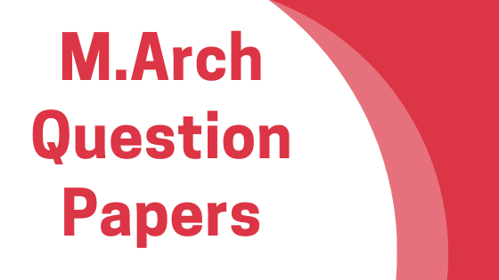 AKTU- M.Arch previous year question papers