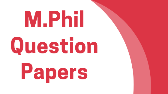 DAVV M.Phil Previous Year Question Papers