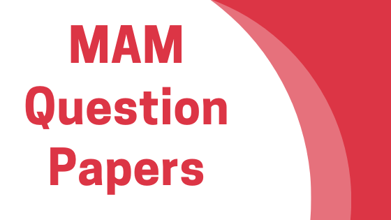 DAVV MAM Previous Year Question Papers