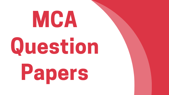 DAVV MCA Previous Year Question Papers