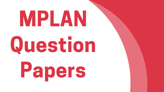 DAVV MPLAN Previous Year Question Papers